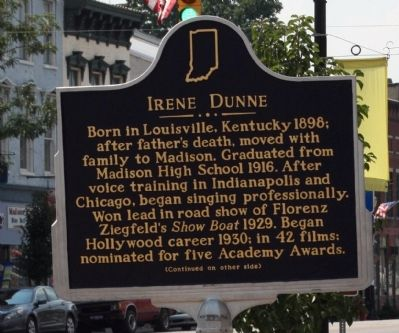 Side A - - Irene Dunne Marker image. Click for full size.