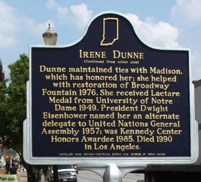 Side B - - Irene Dunne Marker image. Click for full size.