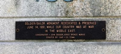 Rededication Plaque of 1991 image. Click for full size.