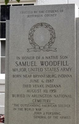 Samuel Woodfill Marker image Click for full size