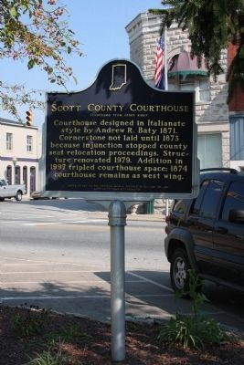 Wide View Side B - - Scott County Courthouse Marker image. Click for full size.