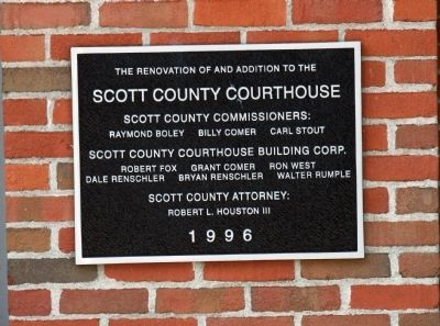 Right Entry Plaque of Courthouse New Addition image. Click for full size.