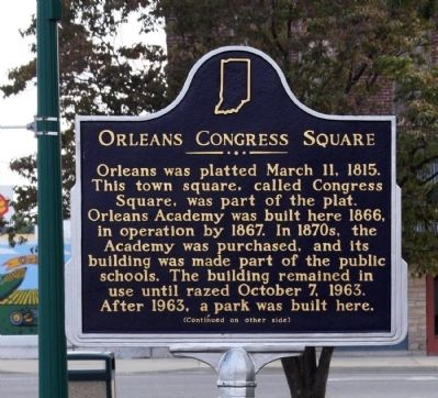 Side A - - Orleans Congress Square Marker image. Click for full size.