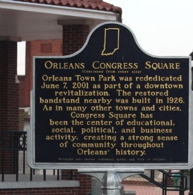 Side B - - Orleans Congress Square Marker image. Click for full size.