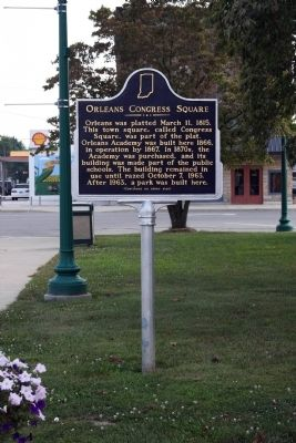 Wide View Side A - - Orleans Congress Square Marker image. Click for full size.