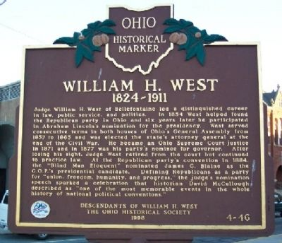 William H. West Marker image. Click for full size.