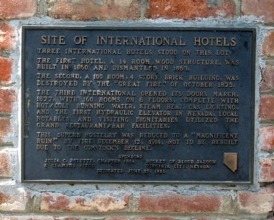 Site of International Hotels Marker image. Click for full size.