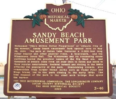Sandy Beach Amusement Park Marker image. Click for full size.