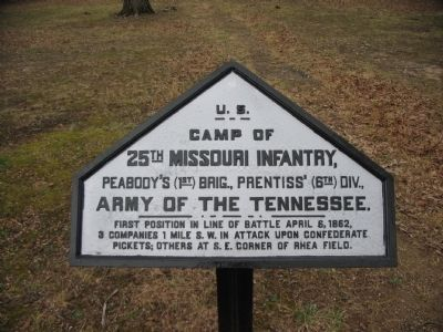 Camp of 25th Missouri Infantry Tablet image. Click for full size.