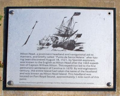 Hilton Head from the Port Royal Interpretive Markers image. Click for full size.