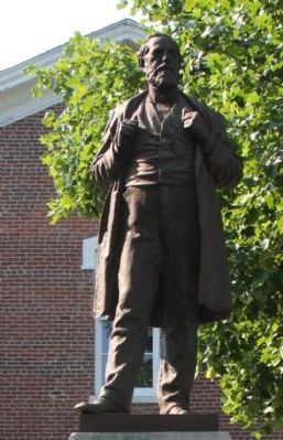 Front View - - Statue of William Hayden English image. Click for full size.