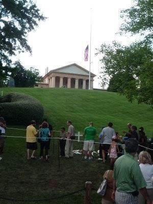 Arlington House, viewed from near Senator Edward Kennedy's gravesite. image. Click for full size.