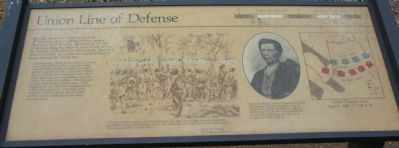 Union Line of Defense Marker image. Click for full size.