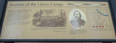 Invasion of the Union Camps Marker image. Click for full size.