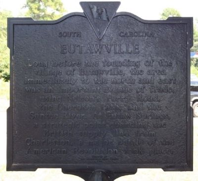 Eutawville Marker, reverse side image. Click for full size.