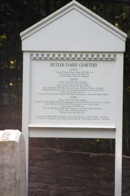 Sign Inside Butler Family Cemetery image. Click for full size.