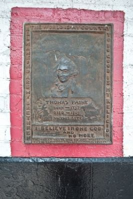 Thomas Paine Death House Marker image. Click for full size.