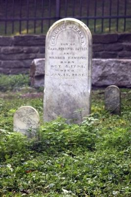 Grave Stone - - Pierce Butler (Son) image. Click for full size.