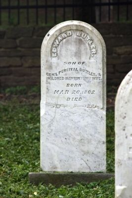 Grave Stone - - (Son) Edward Butler image. Click for full size.