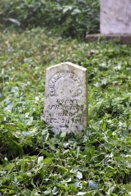 Grave Stone - - Edward Butler image. Click for full size.