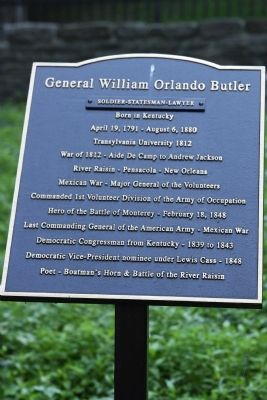 General William Orlando Butler Marker image. Click for full size.
