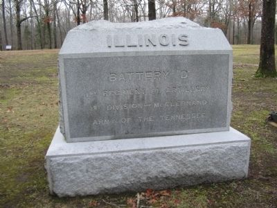 Battery D, 1st Illinois Light Artillery Monument image. Click for full size.