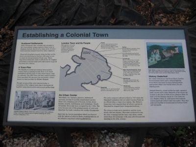 Establishing a Colonial Town Marker image. Click for full size.