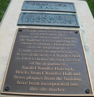 Chandler Hall Marker image. Click for full size.