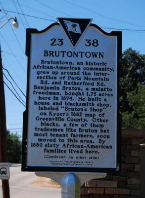 Brutontown Marker - Front image. Click for full size.