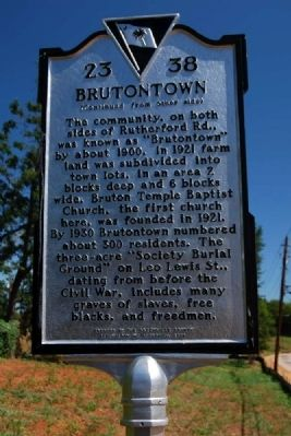 Brutontown Marker - Reverse image. Click for full size.
