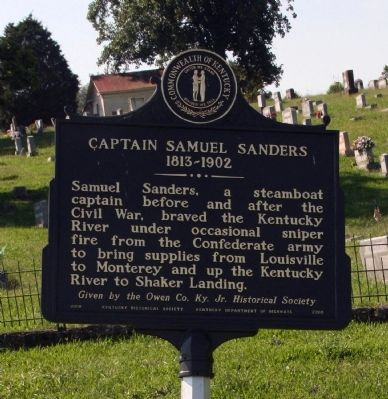 Captain Samuel Sanders Marker image. Click for full size.