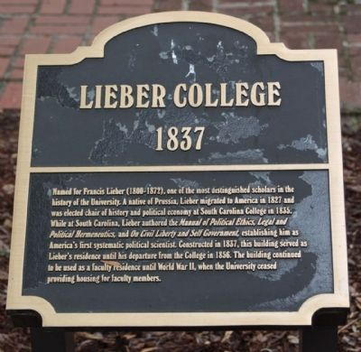 Lieber College Marker image. Click for full size.