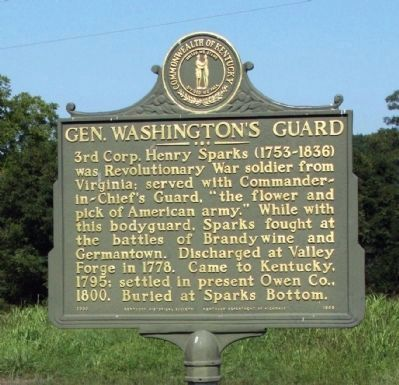 Gen. Washington's Guard Marker image. Click for full size.