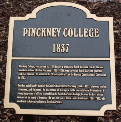 Pinckney College Marker image. Click for full size.