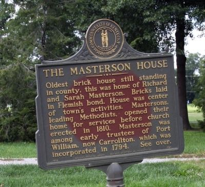 Side A - - The Masterson House Marker image. Click for full size.