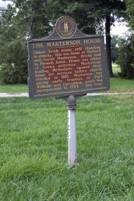 Long View Side A - - The Masterson House Marker image. Click for full size.