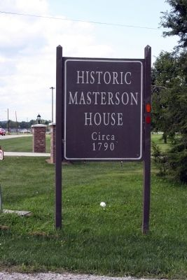 Sign - - Historic Masterson House image. Click for full size.