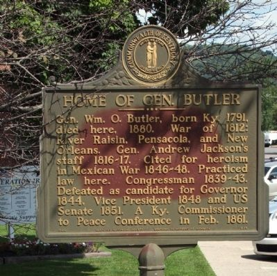 Home of Gen. Butler Marker image. Click for full size.