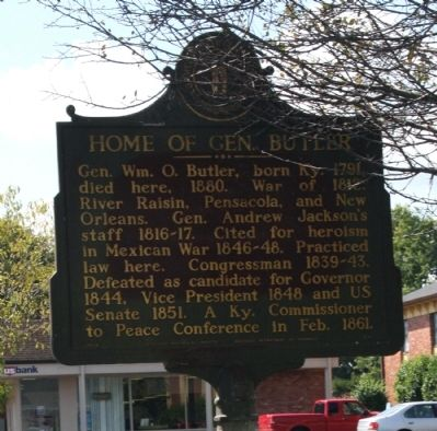 Obverse Side - - Home of Gen. Butler Marker image. Click for full size.