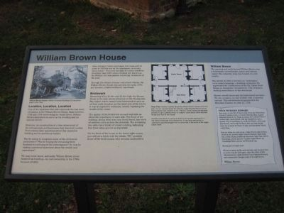 William Brown House Marker image. Click for full size.