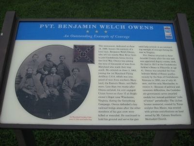 Pvt. Benjamin Welch Owens Marker image. Click for full size.