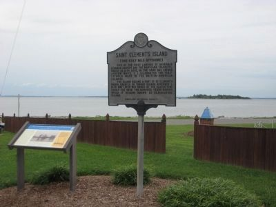 St. Clement's Island Lighthouse Marker image. Click for full size.