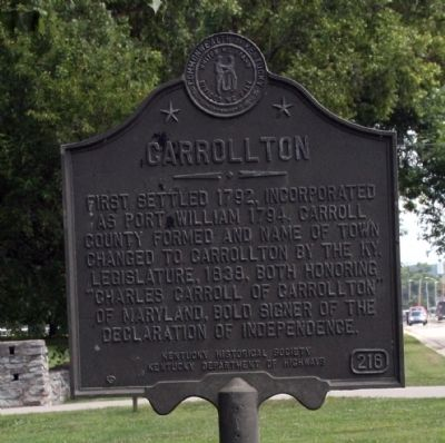Obverse View - - Carrollton Marker image. Click for full size.