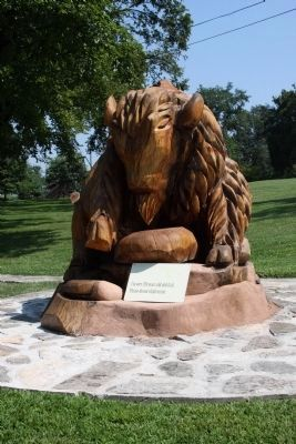 Other View - - Wood Carved Buffalo image. Click for full size.
