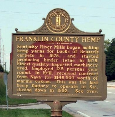 Side A - - Franklin County Hemp Marker image. Click for full size.