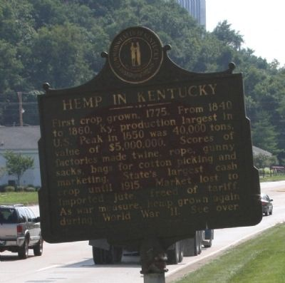 Side B - - Franklin County Hemp Marker image. Click for full size.