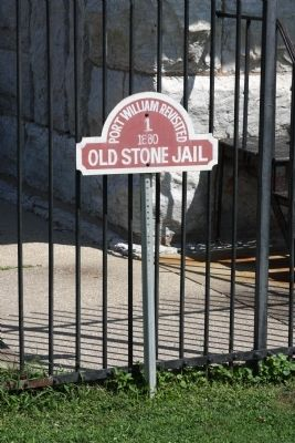 """Sign"" by the  - Carroll County Old Stone Jail - 1880 image. Click for full size."