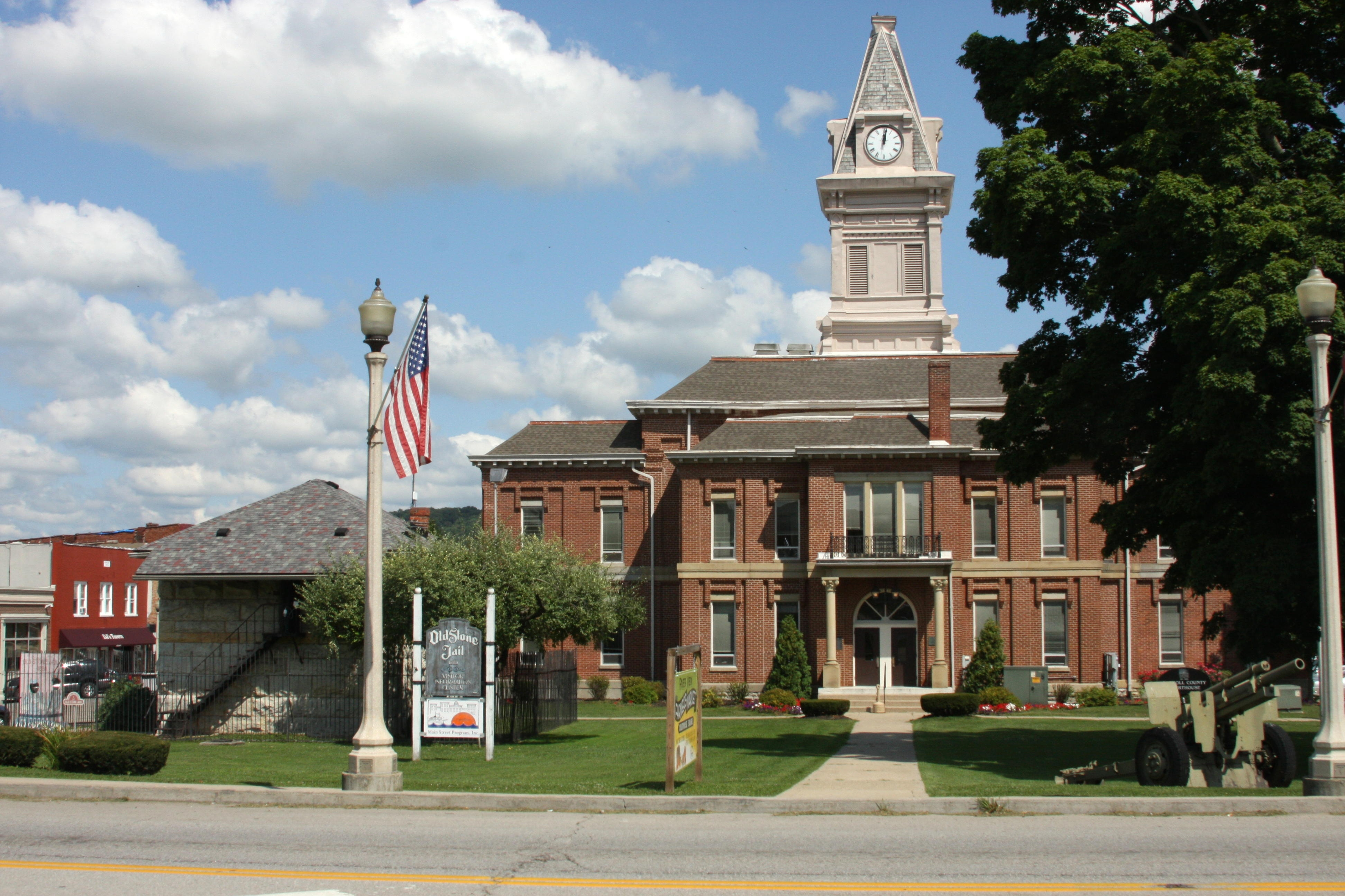 "Carroll County ""Historic Jail""  -and- Current ""Courthouse"" - - Carrollton, Kentucky"