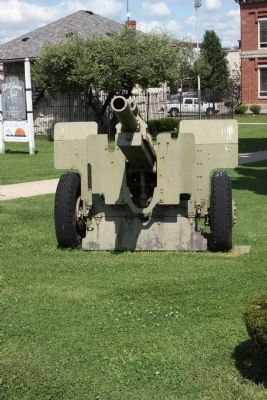 "Front View - - ""Field Piece""  on Courthouse Lawn image. Click for full size."