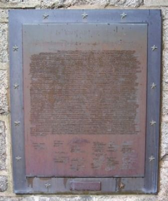 National Patriots Bell Tower Declaration of Independence Marker image. Click for full size.